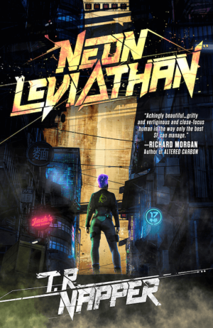 Cover of Neon Leviathan Anthology by TR Napper
