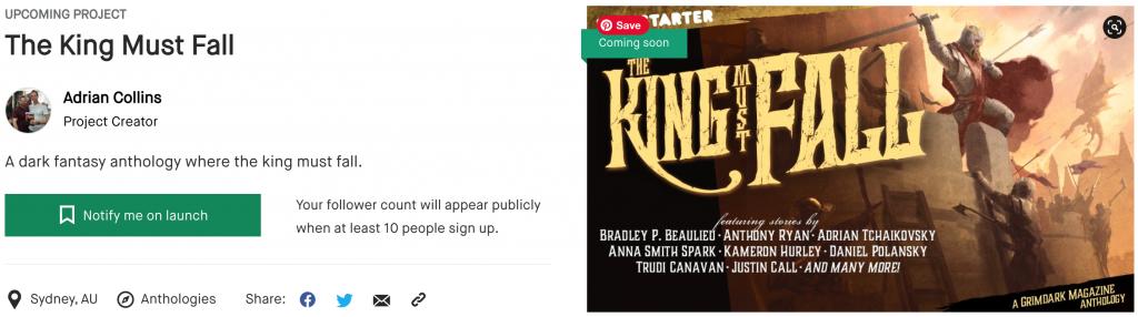 The King Must Fall Kickstarter